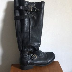 G by Guess tall leather black boots